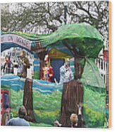 New Orleans - Mardi Gras Parades - 121283 Wood Print