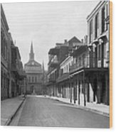 New Orleans Old French Quarter Wood Print