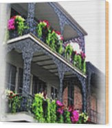 New Orleans Porches Wood Print