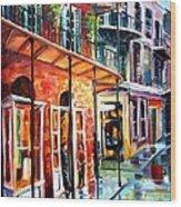 New Orleans Rainy Day Wood Print