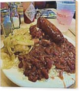 New Orleans Red Beans And Rice Wood Print