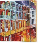 New Orleans Reflections In Red Wood Print