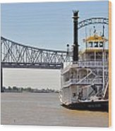 New Orleans River Boat Wood Print