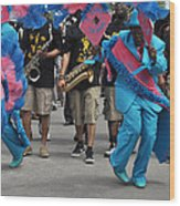 New Orleans Second Line Wood Print