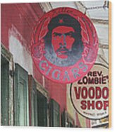 New Orleans Shops Wood Print