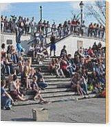 New Orleans - Street Performers - 12121 Wood Print