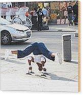 New Orleans - Street Performers - 121211 Wood Print