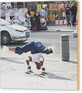 New Orleans - Street Performers - 121212 Wood Print