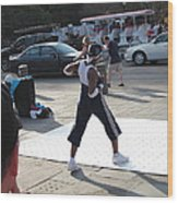 New Orleans - Street Performers - 121219 Wood Print
