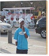 New Orleans - Street Performers - 12128 Wood Print