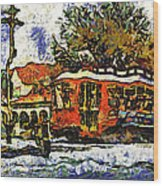 New Orleans Streetcar Paint Vg Wood Print