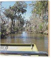 New Orleans - Swamp Boat Ride - 1212122 Wood Print