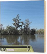 New Orleans - Swamp Boat Ride - 121235 Wood Print