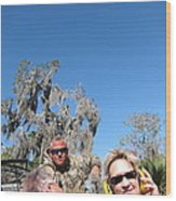 New Orleans - Swamp Boat Ride - 121240 Wood Print