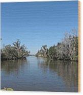 New Orleans - Swamp Boat Ride - 121243 Wood Print