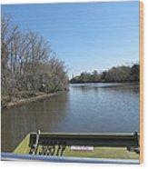 New Orleans - Swamp Boat Ride - 121270 Wood Print