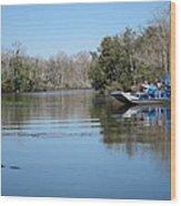 New Orleans - Swamp Boat Ride - 121289 Wood Print