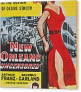New Orleans Uncensored, Us Poster, Top Wood Print