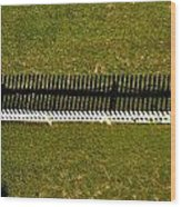 New Perspective Of The Picket Fence Wood Print