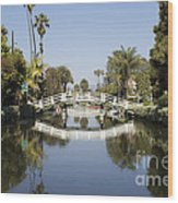 New Photographic Art Print For Sale Canals Of Venice California Wood Print
