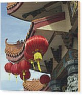 New Photographic Art Print For Sale Downtown Chinatown Wood Print