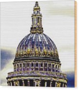 New Photographic Art Print For Sale   Iconic London St Paul's Cathedral Wood Print