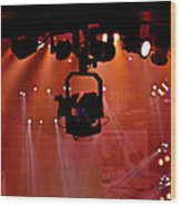 New Photographic Art Print For Sale Lights Camera Action Backstage At The American Music Award Wood Print