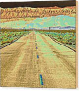 New Photographic Art Print For Sale Long Road To The Valley Of Fire Wood Print