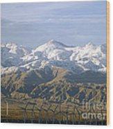 New Photographic Art Print For Sale Palm Springs Wind Farm Landscape Wood Print