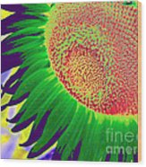 New Photographic Art Print For Sale Pop Art Sunflower 2 Wood Print