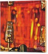 Transparent Orange Drum Backstage At The American Music Award Wood Print
