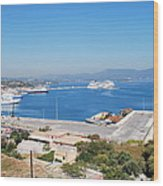 New Port Corfu Wood Print