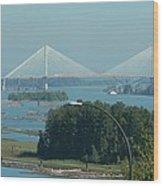 New Port Mann Bridge  Wood Print