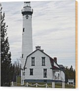 New Presque Isle Lighthouse Wood Print