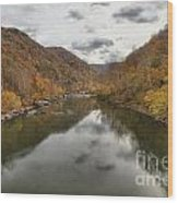 New River Fall Reflections Wood Print