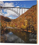 New River Gorge Bridge In Autumn Wood Print