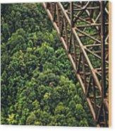 New River Gorge Bridge Steel Wood Print