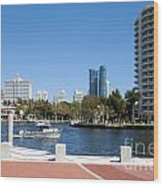 New River In Fort Lauderdale Wood Print