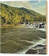 New River Landscape Wood Print