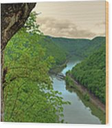 New River Railroad Bridge At Hawk's Nest  Wood Print