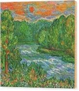 New River Rush Wood Print