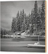 New Snow Wood Print