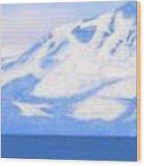 New Snow Lake Tahoe Wood Print