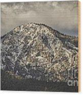 New Snow On Maggie's Peak Wood Print