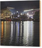 New Husky Stadium Reflection Wood Print