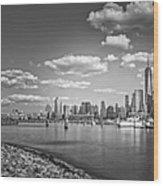 New World Trade Center Bw Wood Print