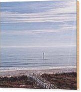 New Year Carolina Beach Wood Print