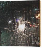 New Year Heavy Rainstorm 2015 Wood Print