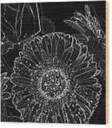 New Years Eve Flower Wood Print