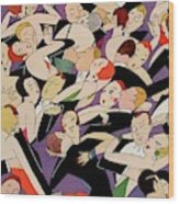 New Years Revelers Wood Print by A. H. Fish
